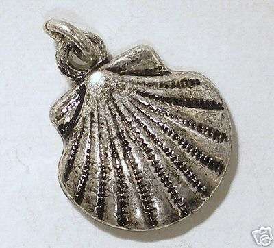 Shell charm silver plated.
